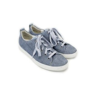 PAUL GREEN Blue & White Suede Pearl Sneakers